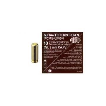 Plynový PEPŘOVÝ náboj 9 mm P.A.PV 10 ks