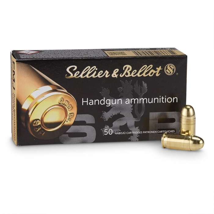 Náboj 9 mm BROWNING (.380 AUTO) - FMJ 6,0g (92grs) Sellier & Bellot