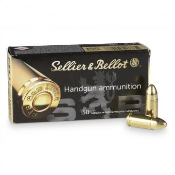 Náboj 9mm LUGER - FMJ 8,0 g (124grs) Sellier & Bellot