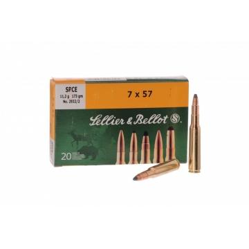 Náboj 7x57 - SPCE 11,2g (173grs) Sellier & Bellot