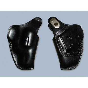 """Pouzdro na revolver (kožené) HESS 2"""" pro revolver 6 ran, s délkou hlavně 2"""", černé"""