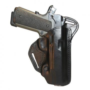 "Pouzdro na pistoli (kožené) BLACKHAWK CHECK-SIX, RIGHT, 1911 COMM. 4"""