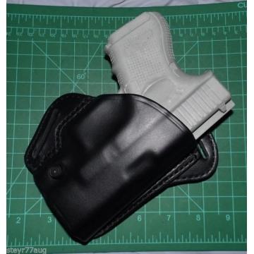 Pouzdro na pistoli (kožené) BLACKHAWK CHECK-SIX, RIGHT, GLOCK 26