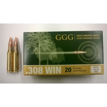 Náboj 308 WIN. - FMJ 9,55 (147grs) GGG