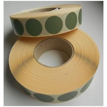 Záslepky na terč, průměr 19 mm (barva zelená)