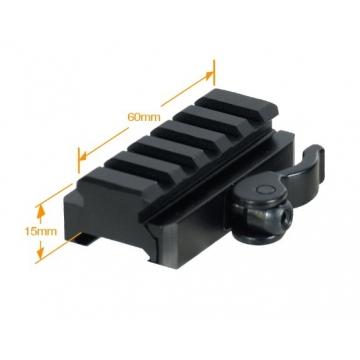 Montážní lišta UTG (Picatinny) s QD pákovým upínáním a lištou s 5 drážkami