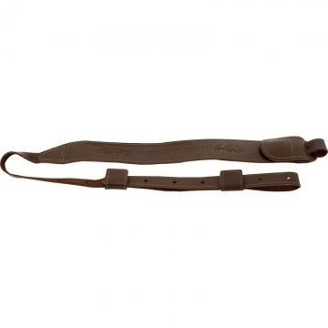 Dvoubodový lovecký řemen ACROPOLIS LEATHER SLING (kožený, hnědý)