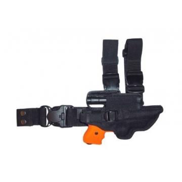 Pouzdro taktické (stehenní) JPX s kapsou (pravostranné)