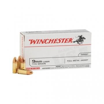 Náboj 9mm LUGER - FMJ 7,5g (115grs) WINCHESTER
