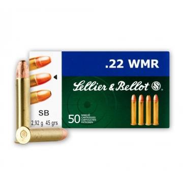 Náboj .22 WMR - FMJ 2,92g (45grs) Sellier & Bellot
