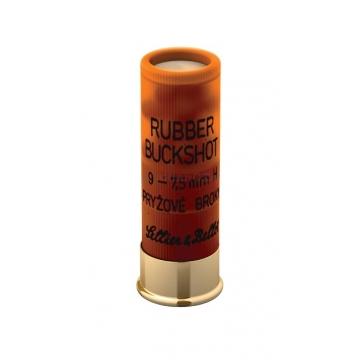 Brokové náboje RUBBER BUCK SHOT 12/67 (7,5mm) Sellier & Bellot