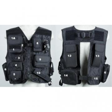 Taktická vesta bez pouzdra na pistoli - model 839