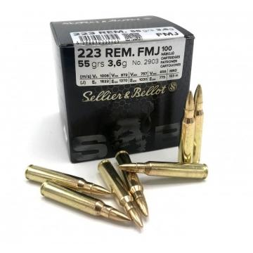 Náboj 223 REM. -FMJ 3,6g (55grs.) SELLIER & BELLOT