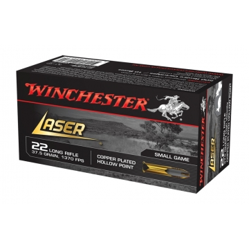Náboj .22 LR Laser Hollow Point 2,4 g (37,5 grs) Winchester