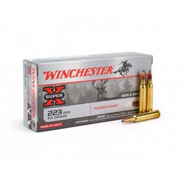 Náboj .223 Rem Super X Power-Point 4,15 g (64 grs) Winchester