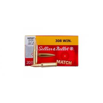 Náboj .308 Win. - HPBT Match (OTM) 11,7 g (180 grs) Sellier & Bellot (20ks)