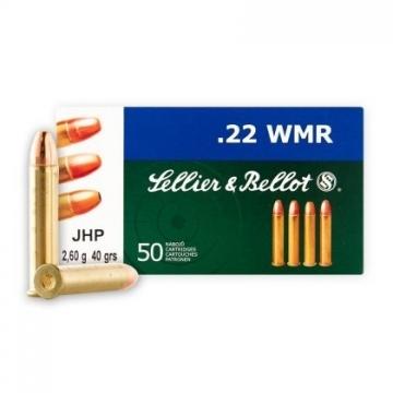 Náboj .22WMR - JHP 2,6 g (40 grs) expanzní střela Sellier & Bellot
