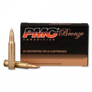 Náboj .223 Rem. – FMJ-BT 3,6 g (55 grs) PMC