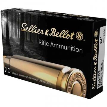 Náboj 9,3 x 62 SP, 18,5g Sellier&Bellot