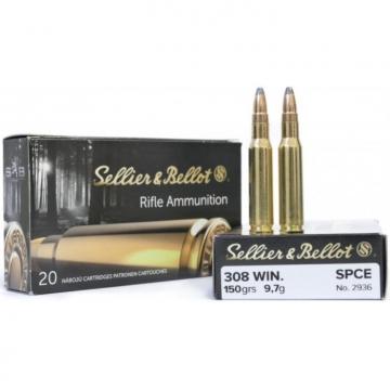 Náboj .308 Win. - SPCE 9,7 g (150 grs) Sellier & Bellot (20KS)