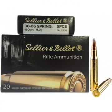 Náboj .30-06 SPRING. - SPCE 9,7 g (150 grs) Sellier & Bellot (20KS)