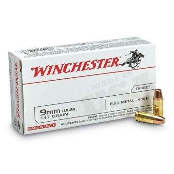 WINCHESTER 9mm Luger TCMC 147 GR.