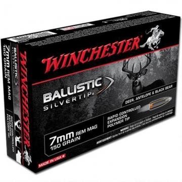 Winchester náboj BALLISTIC SILVERTIP 7mm REM MAG, 150 GR