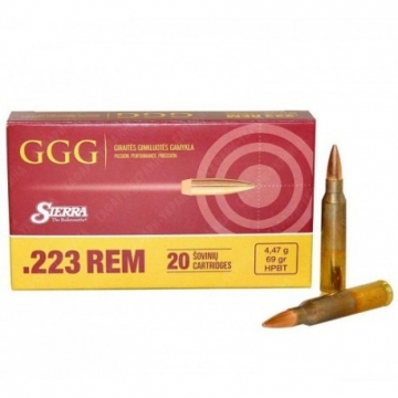 Náboj GGG .223REM - HPBT 69grn (4,47g) Sierra MatchKing