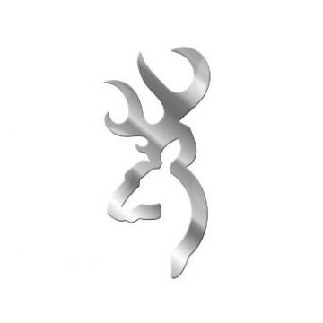 Emblém BROWNING (stříbrný-metalický) 2ks